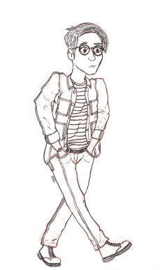 Self-Portrait Ink Sketch