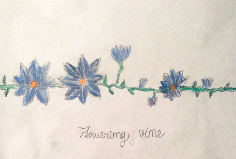 """Flowering Vine"" by Isabella C, 6th Grade"